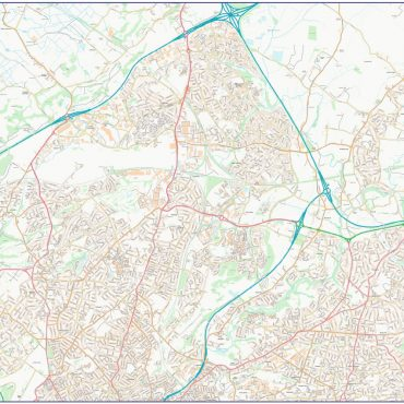 City Street Map - Bristol - Colour - North Overview