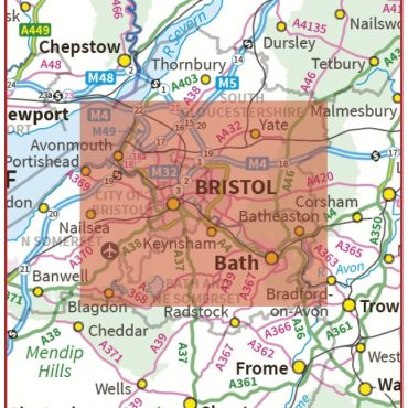 Postcode City Sector XL Map - Bristol & Bath - Coverage