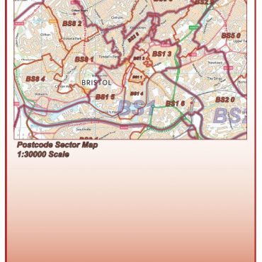 Postcode City Sector XL Map - Bristol & Bath - Folded Cover