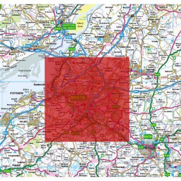 City Street Map - Bristol - Colour - Coverage