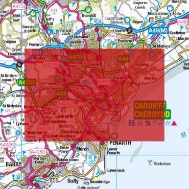 City Street Map - Central Cardiff - Colour - Coverage