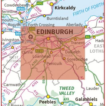 Postcode City Sector XL Map - Greater Edinburgh - Coverage