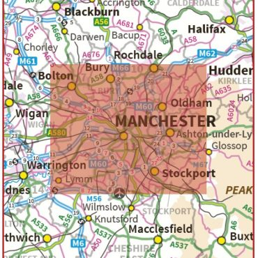 Postcode City Sector XL Map - Greater Manchester - Coverage