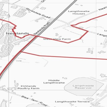 Postcode City Sector Map - Lancaster - Greyscale - Detail