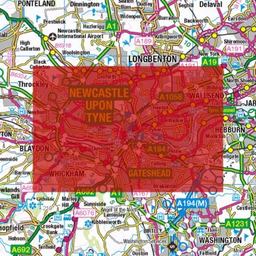 City Street Map - Central Newcastle - Colour - Coverage