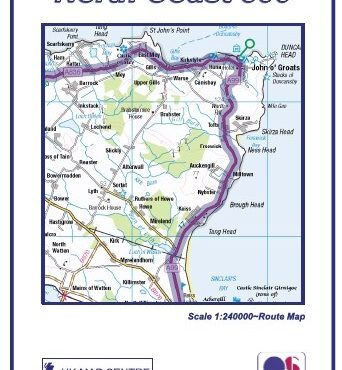 North Coast 500 Route Map - Folded Front Cover