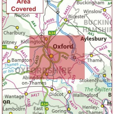 Postcode City Sector Map - Oxford - Coverage