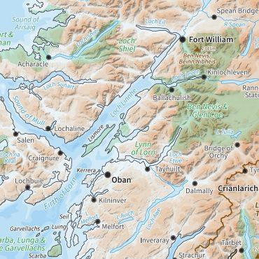 Relief Map 2 - Scotland - Colour - Detail