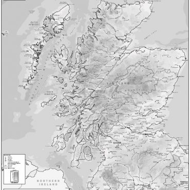 Relief Map 2 - Scotland - Greyscale - Overview