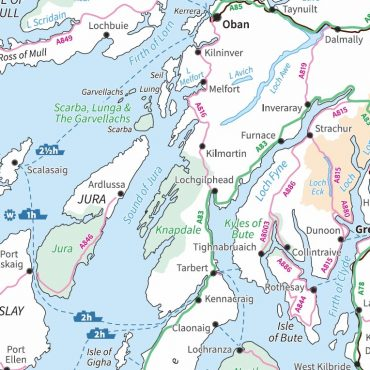 Travel Map 2 - Scotland - Colour - Detail