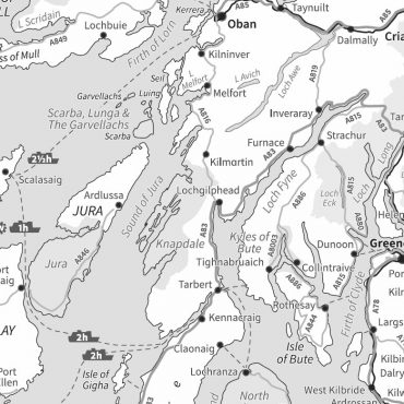 Travel Map 2 - Scotland - Greyscale - Detail