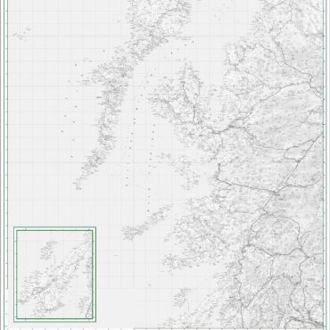 Road Map 2 - Western Scotland and the Western Isles - Greyscale - Detail
