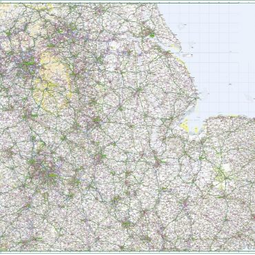 Road Map 5 - East Midlands and East Anglia - Colour - Overview
