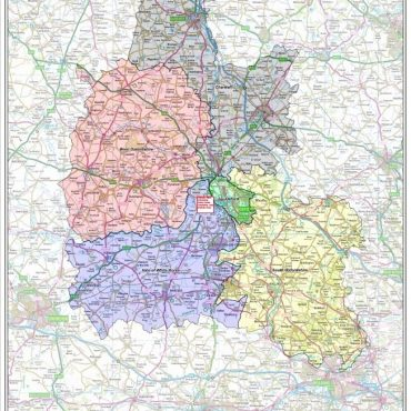 Oxfordshire County Boundary Map - Overview