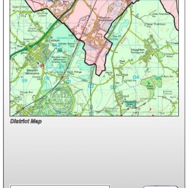 Bedfordshire County Map - Folded Cover