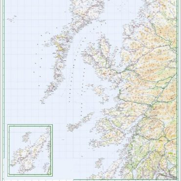 Road Map 2 - Western Scotland and the Western Isles - Colour - Overview