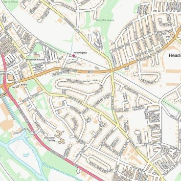 City Street Map - Leeds - Colour - Detail