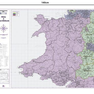 Admin Boundary Map 6 - Wales & West Midlands - Dimensions
