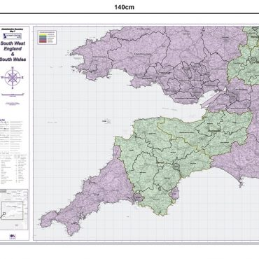 Admin Boundary Map 7 - South West England & South Wales - Dimensions