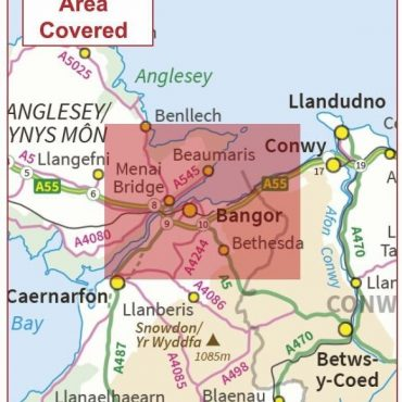 Postcode City Sector Map - Bangor - Coverage
