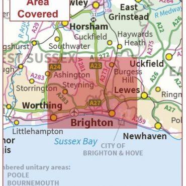 Postcode City Sector Map - Brighton & Hove - Coverage