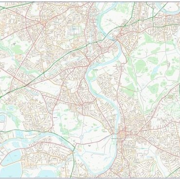 City Street Map - South West London - Colour - Overview