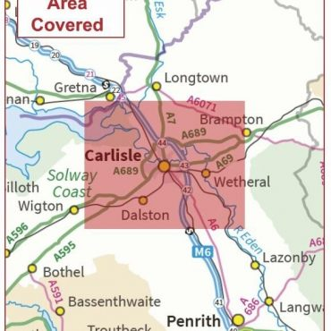 Postcode City Sector Map - Carlisle - Coverage