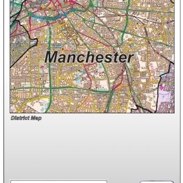 Greater Manchester District Administration Map - Folded Cover
