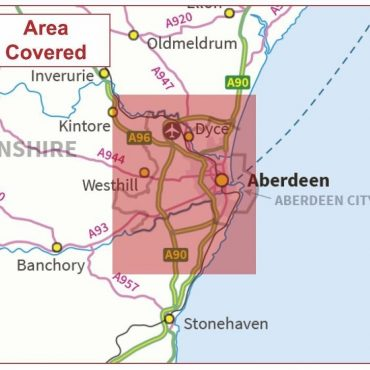 Postcode City Sector Map - Aberdeen - Colour - Coverage