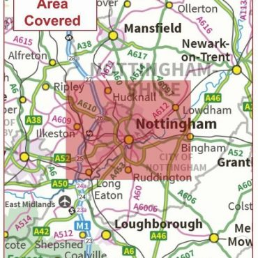 Postcode City Sector Map - Nottingham - Coverage