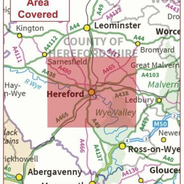Postcode City Sector Map - Hereford - Coverage