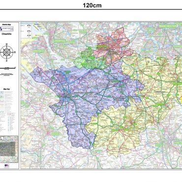 Cheshire County Boundary Map - Dimensions