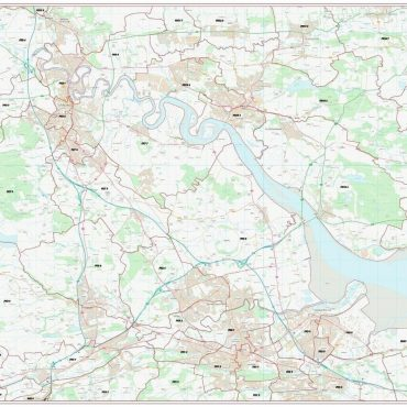 Postcode City Sector Map - Stirling - Colour - Overview