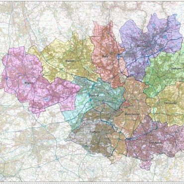 Greater Manchester District Administration Map - Folded