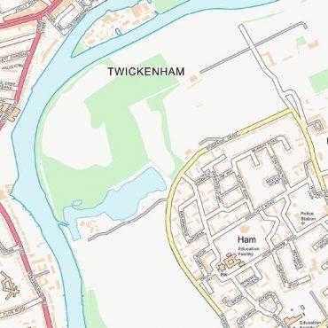 City Street Map - South West London - Colour - Detail