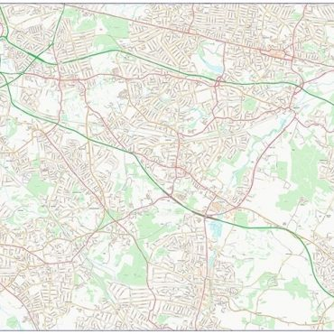 City Street Map - South East London - Colour - Overview