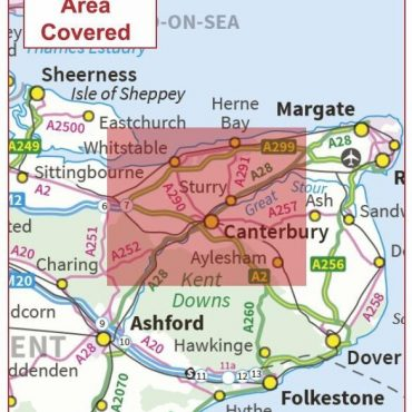 Postcode City Sector Map - Canterbury - Coverage