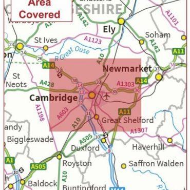 Postcode City Sector Map - Cambridge - Coverage