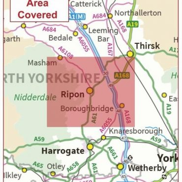 Postcode City Sector Map - Ripon - Coverage