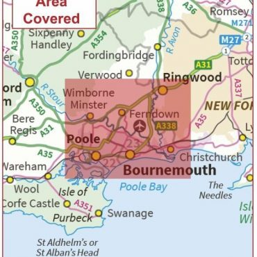 Postcode City Sector Map - Bournemouth - Coverage