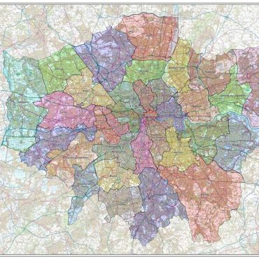 London Boroughs Administration Map - Overview