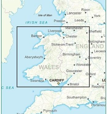 Postcode District Map 6 - Wales & West Midlands - Colour - Coverage