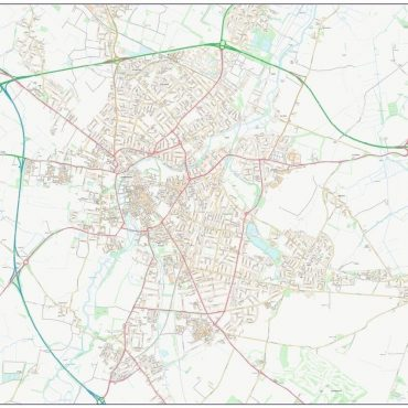City Street Map - Central Cambridge - Colour - Overview