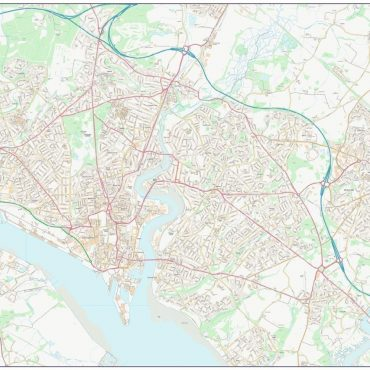 City Street Map - Central Southampton - Colour - Overview