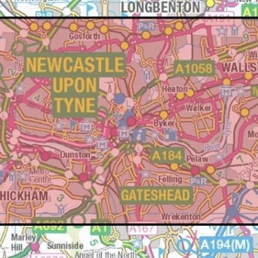 City Street Map - Central Newcastle - Coverage
