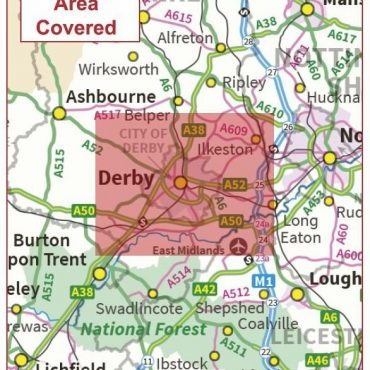 Postcode City Sector Map - Derby - Coverage