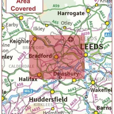Postcode City Sector Map - Bradford - Coverage