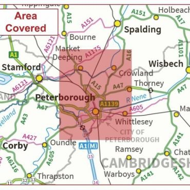 Postcode City Sector Map - Peterborough - Coverage