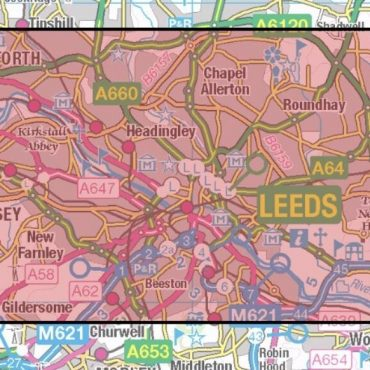 City Street Map - Leeds - Coverage