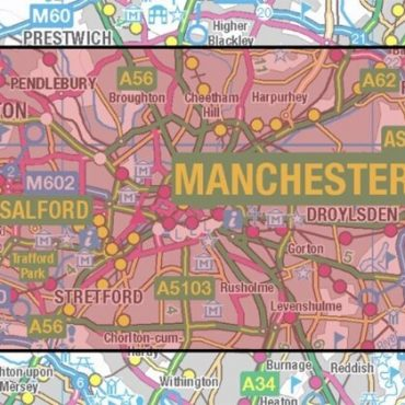 City Street Map - Central Manchester - Coverage